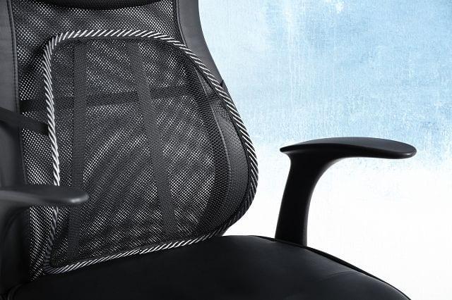"""Lordosenstützen den nötigen """"Rückhalt"""" um eine natürliche Sitzhaltung auch dauerhaft beizubehalten. Dies entstresst die Muskulatur und vermeidet eine Überbeanspruchung. Darüber hinaus schont es die Wirbelsäule."""