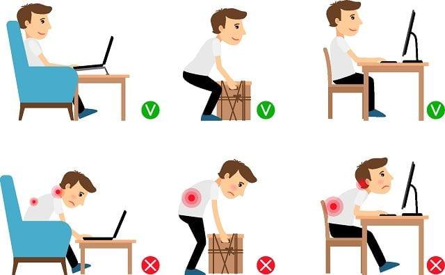 Im Alltag ist es wichtig auf die richtige Haltung zu achten. Das verhindert Überlastungen der Muskulatur und falsche, unnatürliche Bewegungen. Dadurch kann man Wirbelblockaden vorbeugen.