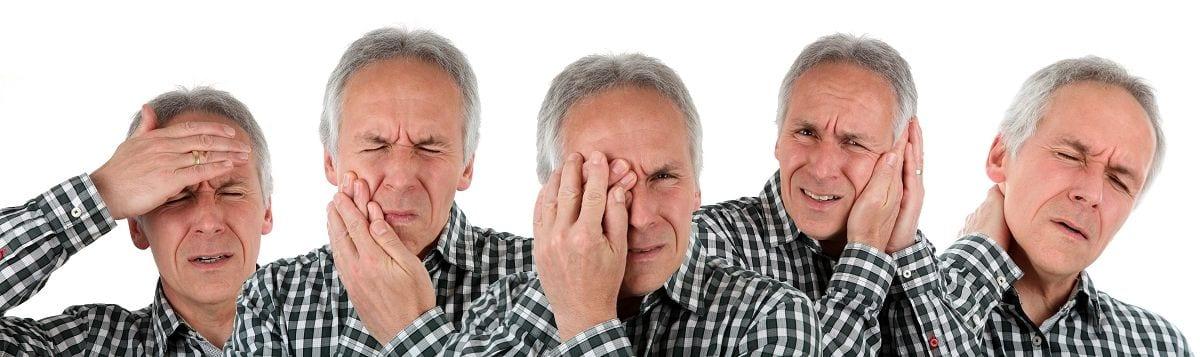Betroffene einer somatoformen Störung neigen dazu bereits leichte Beschwerden durch intensive Beobachtung zu verstärken.