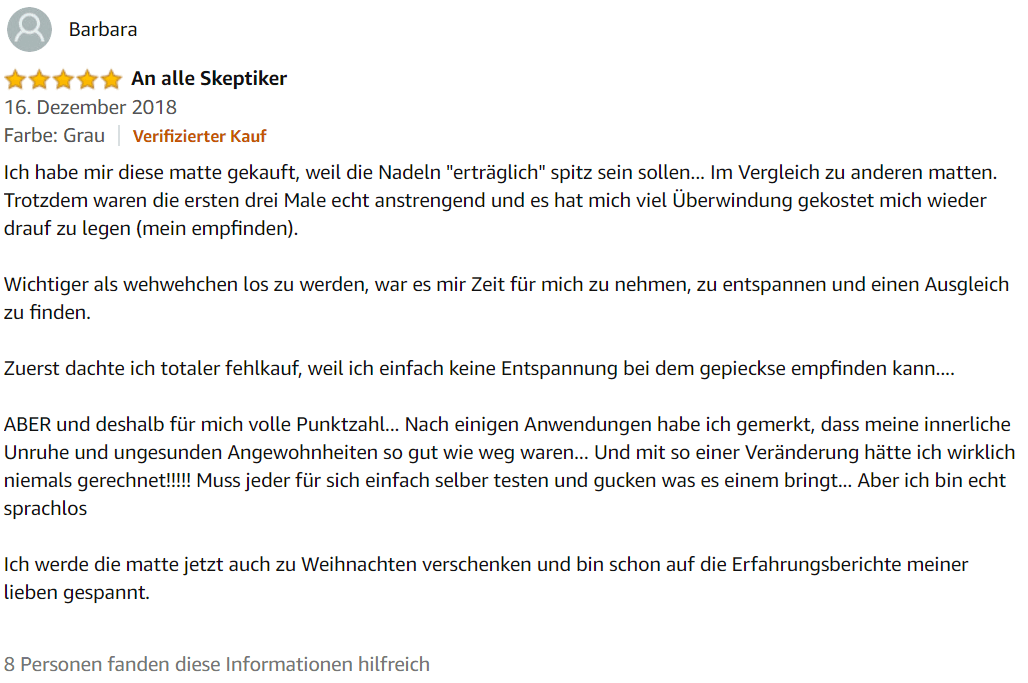 An alle Skeptiker - 5 Sterne-Bewertung