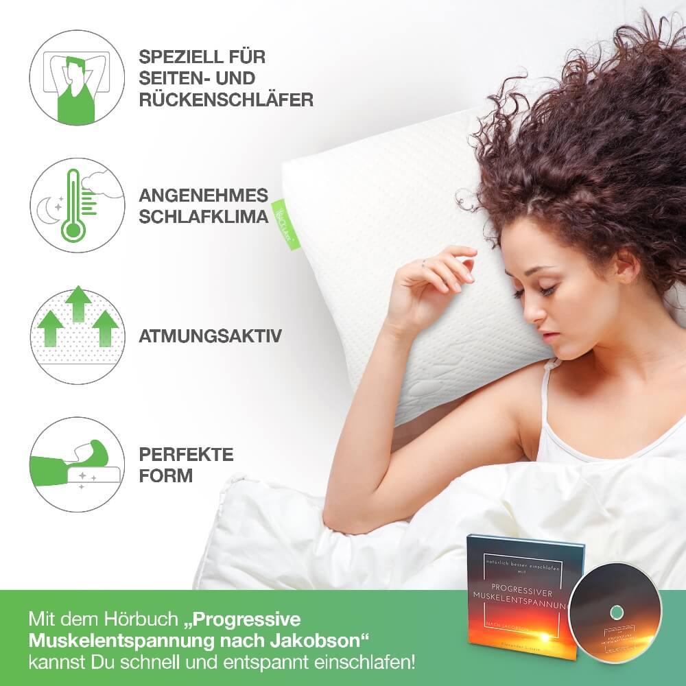 7. Produktbild orthopädsiches Schlafkissen von BACKLAxx aus 100% Naturlatex