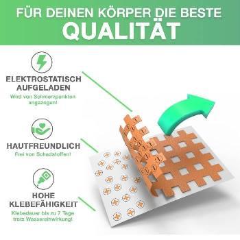 Hochwertige Gitterpflaster sind elektrostatisch aufgeladen, hautfreundlich und besitzen eine hohe Klebefähigkeit.