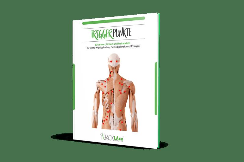66-seitiges eBook über Triggerpunkte am Rücken, die Rückenschmerzen verursachen und die Triggerpunkte im Rücken erzeugen.