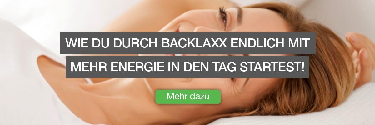 """Infobox für Ursachenartikel für die BACKLAxx-Kissen - """"Wie Du durch BACKLAxx mit mehr Energie in den Tag startest"""""""