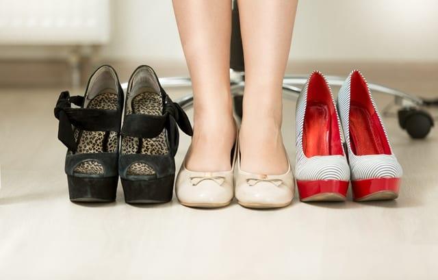 Bequeme Schuhe sind ein Muss, wenn man den ganzen Tag steht.