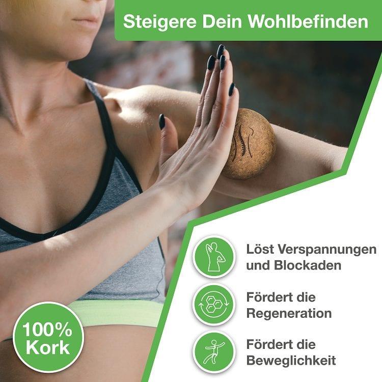 Der Massageball von BACKLAxx löst bei Anwenung Verspannungen, fördert die Regeneration und fördert die Beweglichkeit.